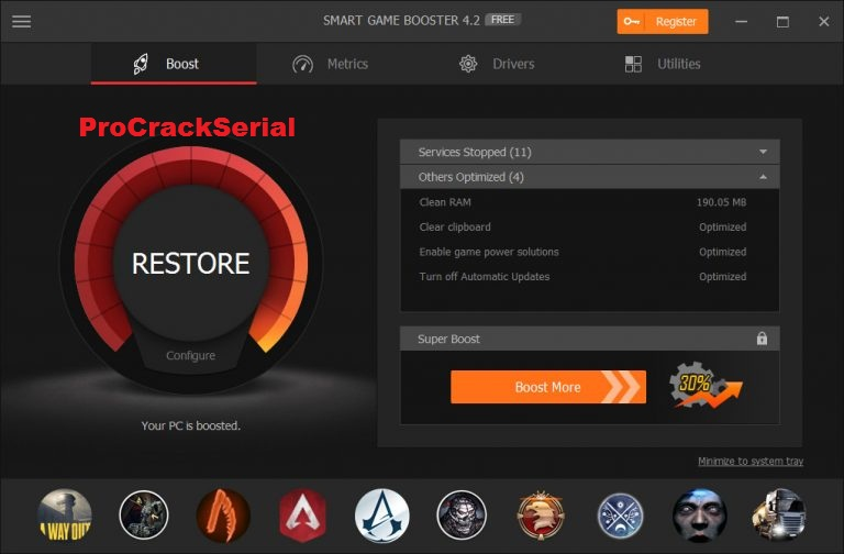 Smart Game Booster 5.0.1.454 + Crack [ Latest Version ]